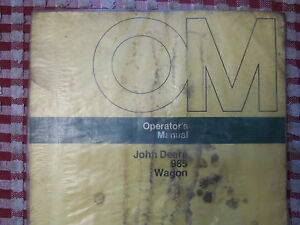 John Deere Operator s Manual 965 Wagon Om w21361 Issue G4 In Plastic Cover Hay