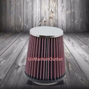 K N 2 50 64 Mm Universal Rubber Cone Centered Round Tapered Air Filter Rc 9630