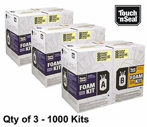 Touch N Seal 1000 Kit Open Cell Spray Foam Insulation Kit Fr 1000 Bf Qty Of 3
