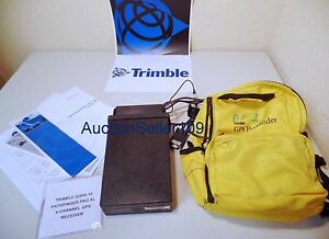 Trimble 22850 10 Pathfinder Pro Xl 8 Channel Gps Receiver backpack Case cables