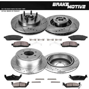 Front Rear Brake Rotors Ceramic Pads For 2004 2005 2006 2007 2008 Ford F150