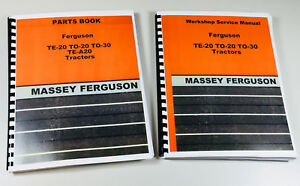 Harry Massey Ferguson To 30 To 20 Te 20 Tractor Service Repair Parts Manual Book
