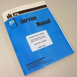 International Farmall 606 Gas Lp Tractor Engine Service Repair Overhaul Manual