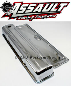 Chevy 235 Inline Straight 6 Cylinder Chrome Valve Cover W Side Plate