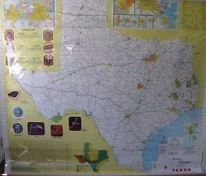 National Geographic Large Pull Down School Map Texas 70 Inches By 58 Inches