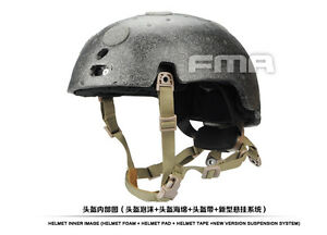 FMA New Suspension And High Level Memory Pad For Ballistic Helmet DETB1050-DE-M