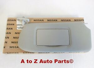 New 2010 2012 Nissan Sentra Lh Or Driver Side Grey Sun Visor Oem