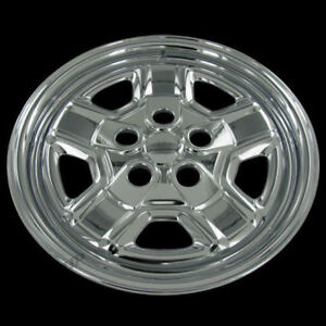 For 07 14 Jeep Patriot 16 Chrome Wheel Covers Hubcaps Rim Skin Simulators Set