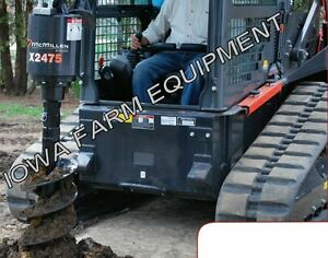 Mcmillen X2475 Skidsteer Post Hole Auger Digger With 12 Auger 20 35gpm