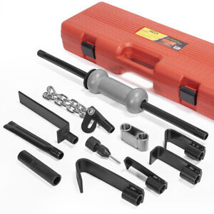 Heavy Duty Dent Puller W Slide Hammer Auto Body 10lbs Auto Repair Tool Kit 13pc