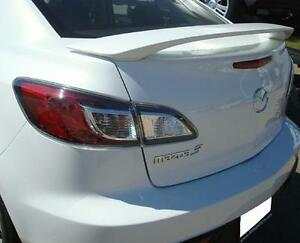 Fits Mazda 3 4dr Oe Style Painted Spoiler Wing Black Pearl Clearcoat 16w