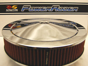 Spectre 14x3 Chrome Air Cleaner Red Washable K n Style Filter Low Profile Base