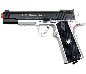 500 FPS NEW WG AIRSOFT FULL METAL M1911 GAS CO2 HAND GUN PISTOL w 6mm BB BBs $69.95