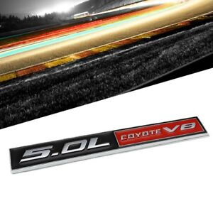 Black Red 5 0l Coyote V8 Engine Auto Trunk Badge Emblem Decal Adhesive Sticker