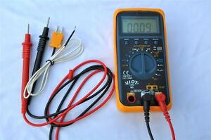 Ac dc Ammeter Multimeter Dmm capacitor Test Tester thermocouple Hvac Meter Tool