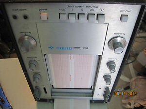 Gould Brush Model 220 Strip Chart Recorder Lot K501