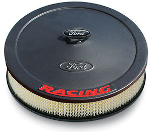 Ford Racing Air Cleaner Kit Black Crinkle Raised Emblem