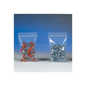 500 Reclosable Reusable Ziplock Jewelry Plastic Clear Poly Bags 12x18 Pb3789