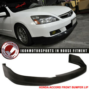 Fits 06 07 Honda Accord 4dr Urethane Front Bumper Lip Spoiler Hfp Style Pu
