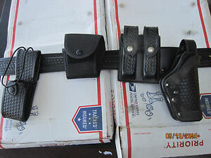 Police Duty Gun Leather Belt Security law With Extras Lot K522