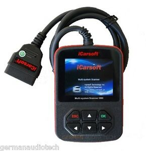 Mercedes Benz Diagnostic Scanner Tool Test Reset Erase Fault Codes Icarsoft I980
