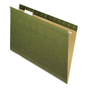 pendaflex X ray Hanging File Folders 1 5 Tab Legal Standard Green 25 box