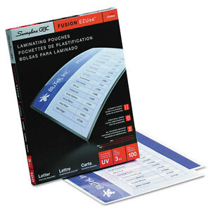swingline Gbc Fusion Ezuse Laminating Pouches Letter Size 100 Per Pack