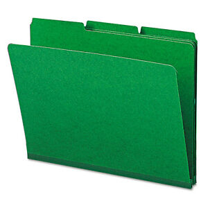 smead Recycled Folders One Inch Expansion 1 3 Top Tab Letter Green 25 box