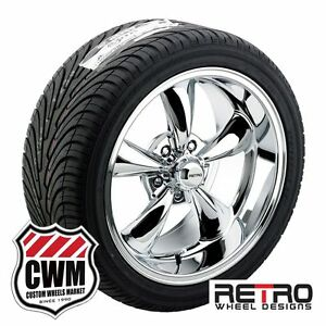 17 Inch Staggered 17x7 17x9 Chrome Wheels Rims Tires For Chevy Cars 1953 1981