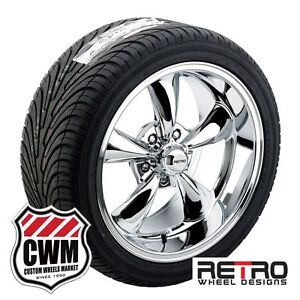 17 Inch 17x8 17x9 Chrome Wheels Rims Bfg A S Tires For Chevy Chevelle 1966 72