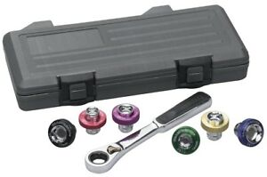 Gearwrench 3870d Magnetic Oil Drain Plug Socket Set 7 Pc
