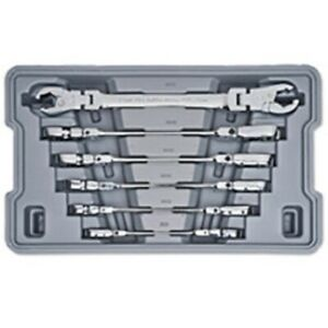 Gearwrench 89101d Ratcheting Flex Flare Nut Wrench Set Metric 6 Pc