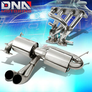 For 00 05 Mr2 Mrs W30 Dual 3 Tip Performance Catback Header Manifold Exhaust
