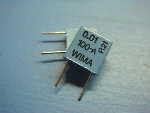 50 Wima Fks2 01 100 10 01uf 100v 10 Ac Pulse Polyester Film Foil Capacitor