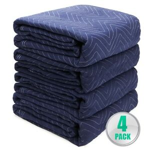 Moving Blankets Set Of 4 72 X 80 Furniture Pads Warehouse 5lbs Heavy Duty