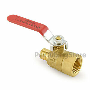 10 3 4 Pex Crimp X 3 4 Female Threaded Brass Shut off Ball Valves Full Port