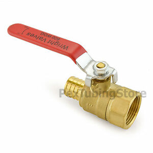 1 Pex Crimp X 1 Female Npt Threaded Brass Shut off Ball Valve Full Port