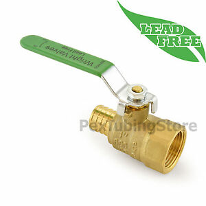 10 1 Pex Crimp X 1 Female Npt Threaded Lead free Brass Ball Valves Full Port