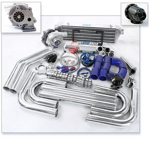 Universal T3 t4 T04e Turbo Charger Kit Turbo Bar And Plate Intercooler 2 5 Inch