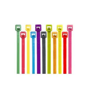 colored Cable Ties 50 11 Fluorescent Orange 1000 case