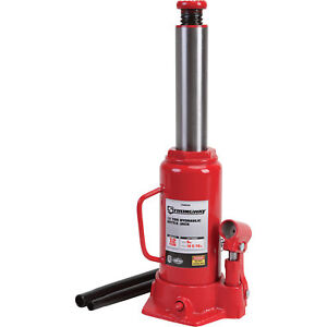 Strongway Hydraulic Bottle Jack 12 Ton Capacity 9in 18 5 16in Lift Range