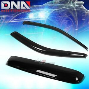 For 96 00 Civic 2dr Ej Em Smoke Tint Window Sun Moon Roof Visor Shade Deflector