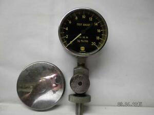 Vintage Us Gauge 3 Test Gauge 20 Psi bu 2579 a