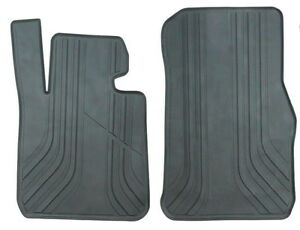 Bmw X1 E84 2009 2015 Black Rubber All Weather Floor Mats Front Set Oem