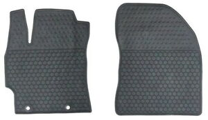 Toyota Corolla 2007 2013 Black Rubber All Weather Floor Mats Front Set Oem