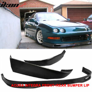 Fits 94 97 Acura Integra Coupe Spoon Pu Front Bumper Lip T r Abs Rear Lip