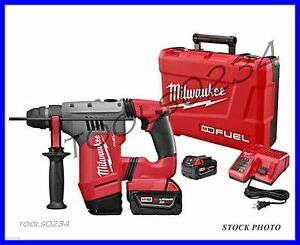 New Milwaukee 2715 22 M18 Fuel 1 1 8 Sds Plus Rotary Hammer Kit Free Shipping