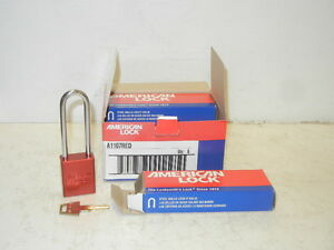 Box Of 6 American Lock A1107red New Red 3 Shackle Padlocks A1107red