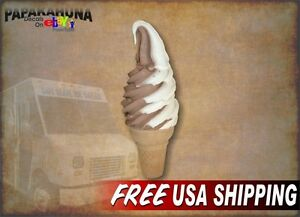 Soft Serve Twist Cone 5 x13 Decal For Ice Cream Truck Or Parlor Menu Sign