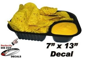 Nachos And Cheese 7 x13 Decal For Movie Theater Concession Stand